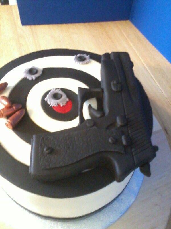 Fondant Gun Fondant Figurines Cupcake Cakes Cake