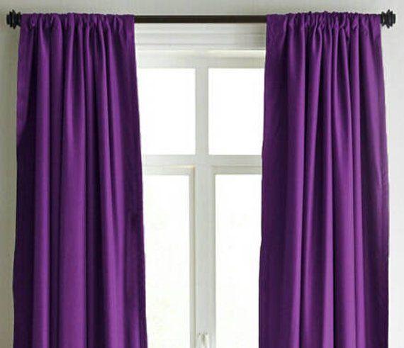 Purple Velvet Curtains Luxury Handmade Designer Drape Curtains Window Curtain Drapery Purple Velv Velvet Curtains Purple Curtains Cool Curtains