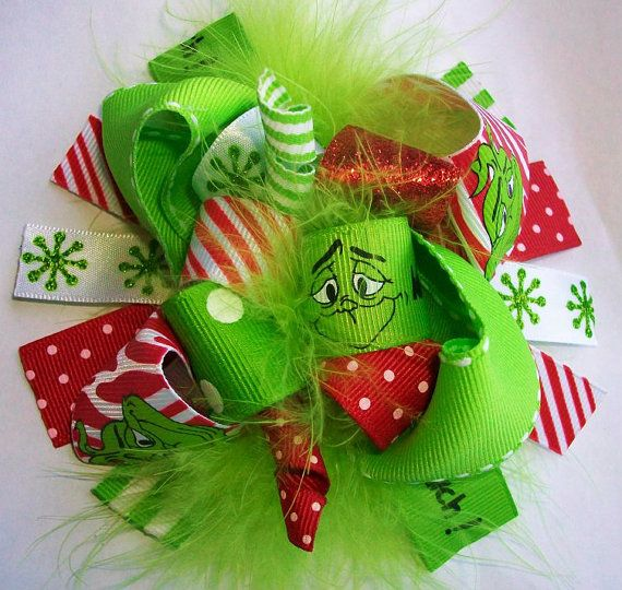 Funky Loopy Mr Grinch Holiday Christmas Boutique by 4baublesnbows, $9.99