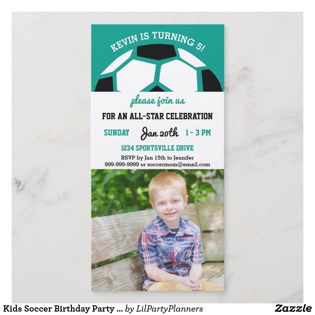 Kids Soccer Birthday Party Sports Themed Photo | { Happy Birthday ...