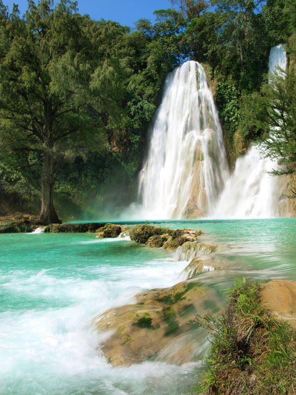 Minas Viejas waterfalls, San Luis Potosí, Mexico ✯ ωнιмѕу ѕαη∂у