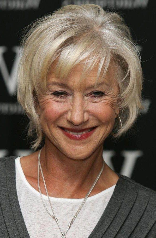 Frisuren Damen Über 60 Jahre | 2021 | Bob frisur ab 60