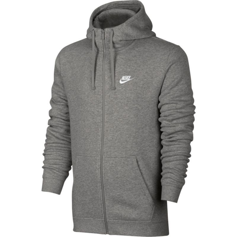 Nike Men's Sportswear Club Fleece Full Zip Hoodie, Dk Grey