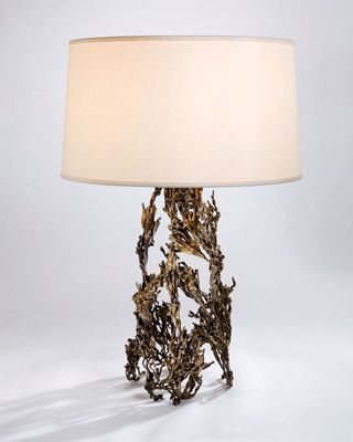 Gualala lamp, made from a lost-wax bronze cast of seaweed, by Tuell + Reynolds