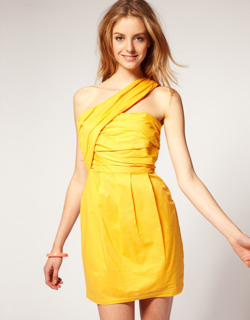 Yellow evening dress asos