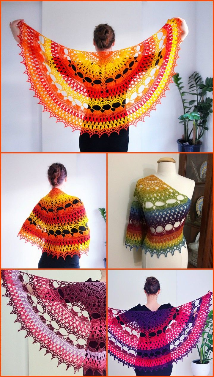 100 Free Crochet Shawl Patterns – Free Crochet Patterns #crochetshawlfree