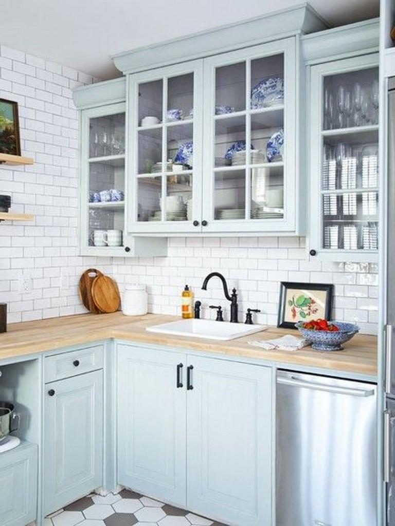 50 lovely cottage kitchen design ideas kitchen kitchendesign kitchendesignideas in 2019 on kitchen decor blue id=72933