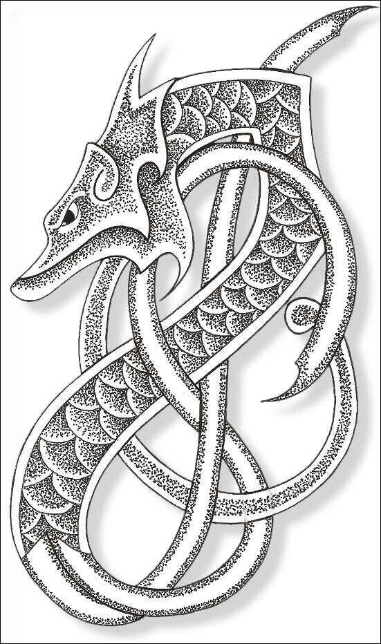 Nordic Dragon Arm Tattoo Idea Celtic Dragon Tattoos Norse Tattoo Celtic Tattoos