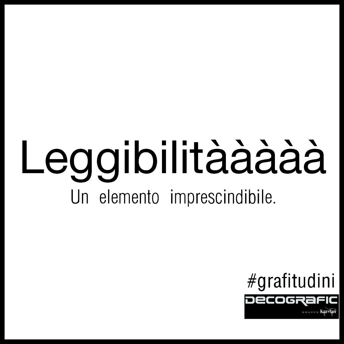 ♪ ♫ Leggibilità! Un elemento imprescindibile per un'impaginazione stabile… che punti all'eternità! ♫ (semi-citazione da Arisa) #grafitudini #robedagrafici #graphicdesign | Decografic Gruppo Kardan www.decografic.com