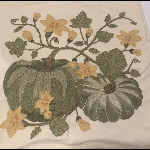 Potterybarn Pumpkin Patch Pillow Cover For Fall In Ivory