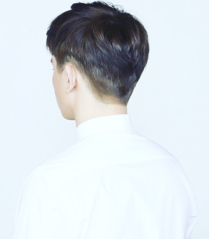 Hair Mori Korean Salon Two Block Cut Hairstyle Pinterest