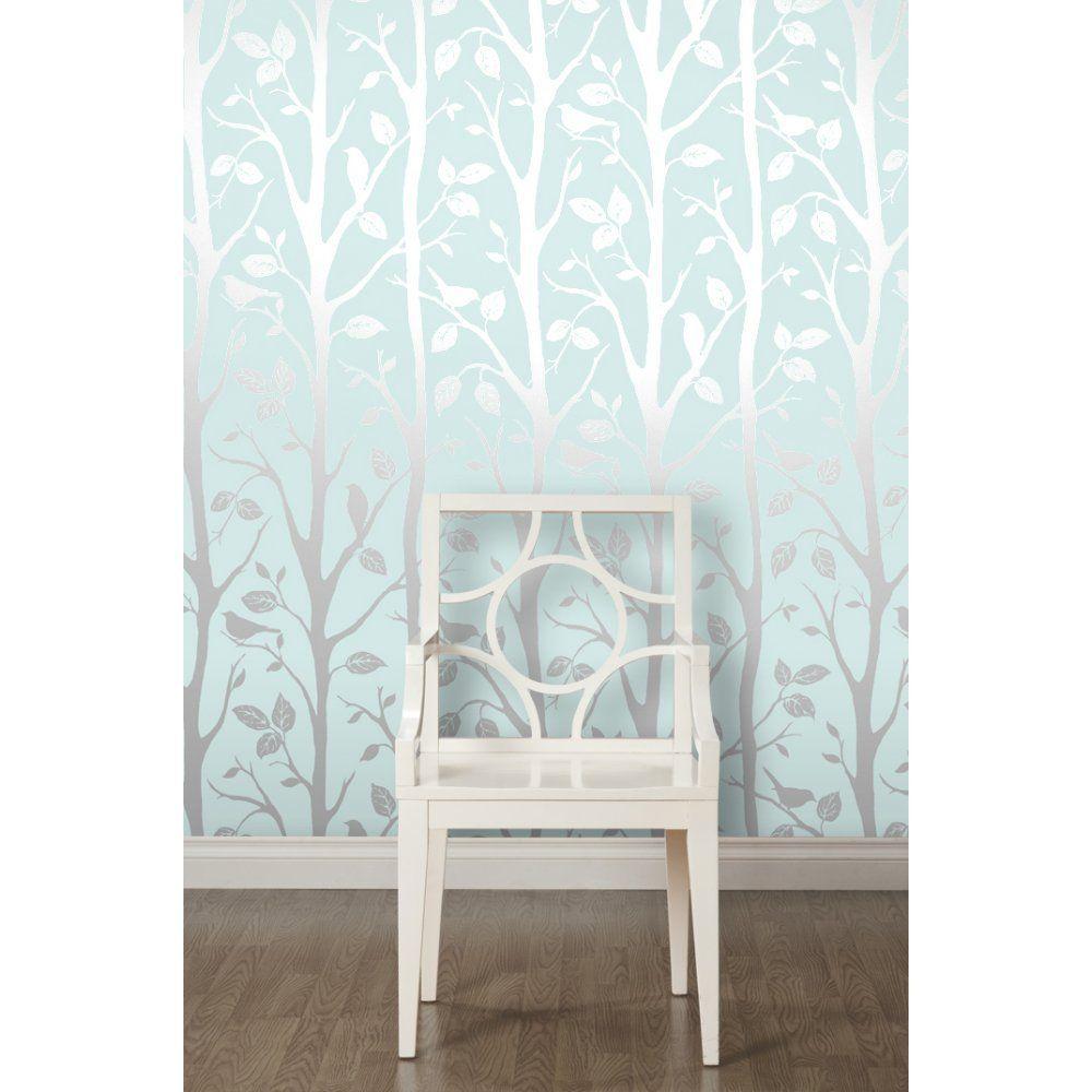 I Love Wallpaper Shimmer Harmony Wallpaper Teal Silver Amazon