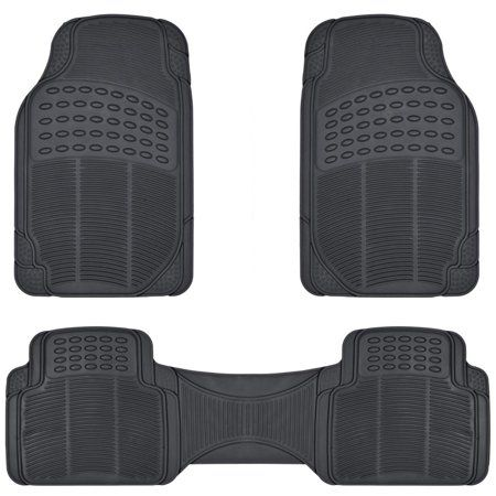 New 4pc Heavy Duty Carpeted CAR Rubber Floor Mats Front Back Set American Cars