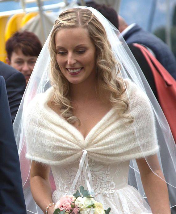 Photo of Braut Stola, Hochzeit, Bolero creme