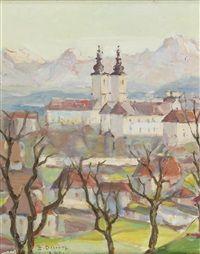 Landschaft mit Kloster by Emmerich Dichtl