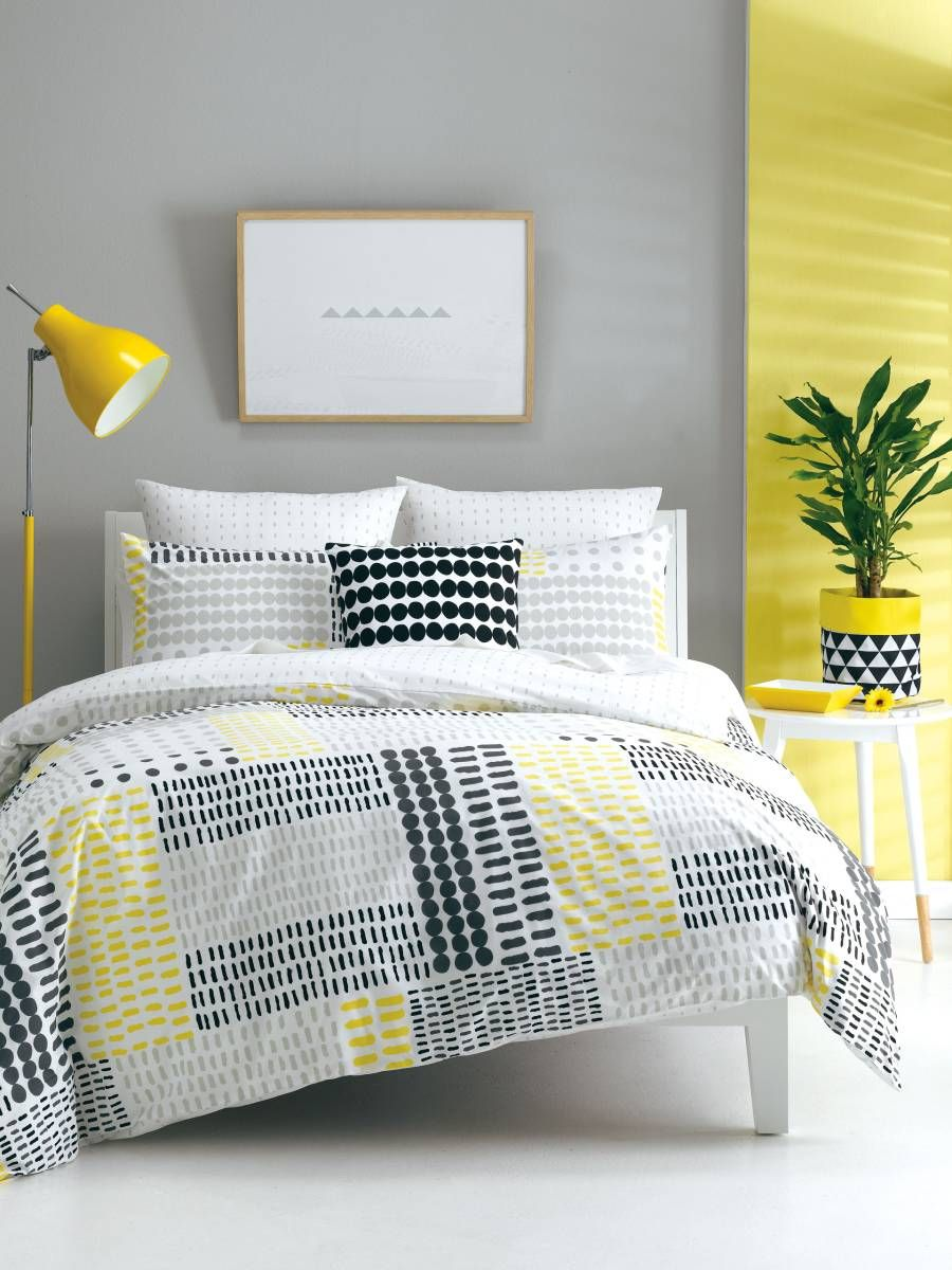 Quilt Covers Dash Yellow Cover Sets Single