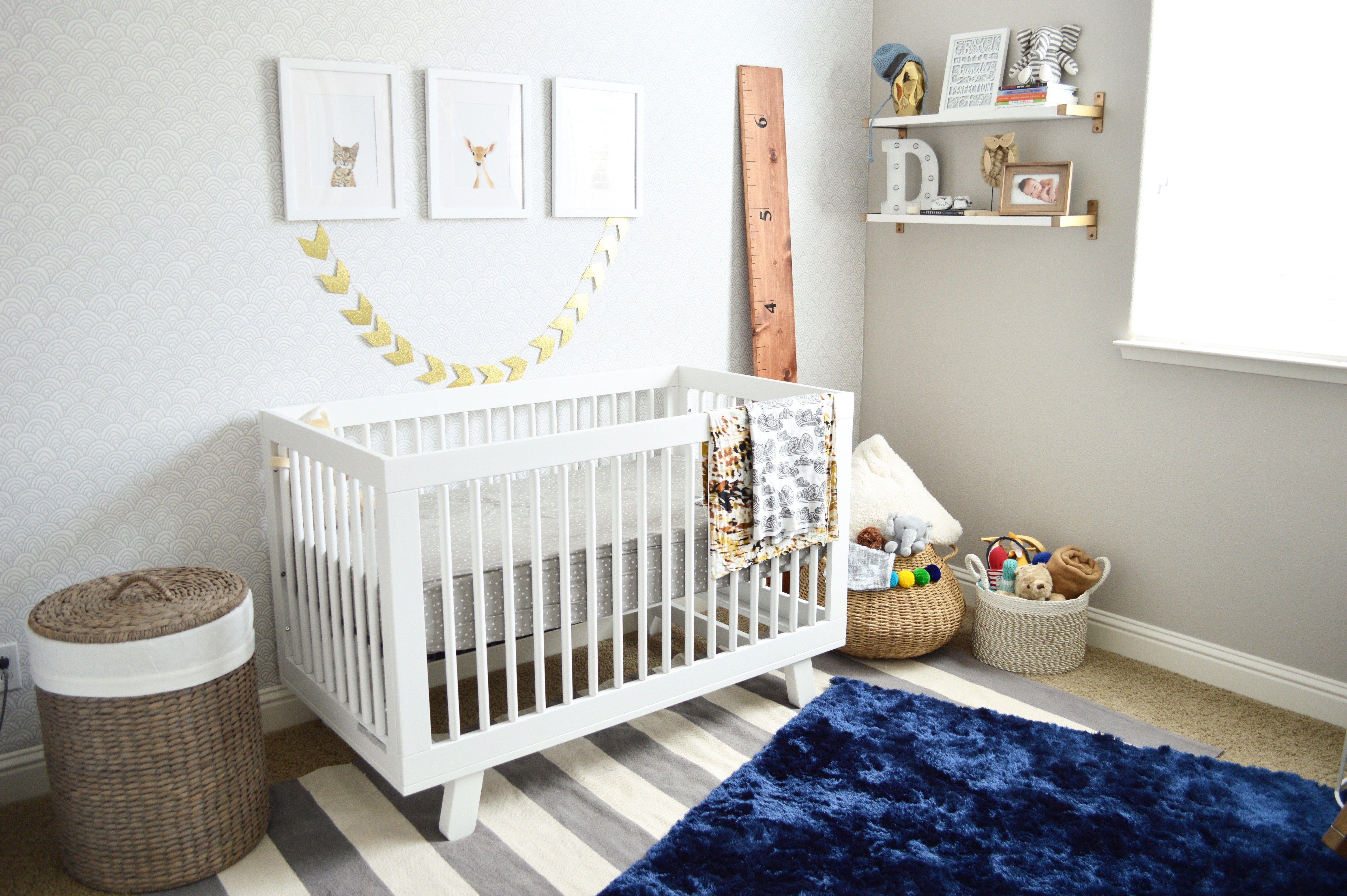 baby nursery, boy nursery, modern nursery | babyletto Hudson Crib ...