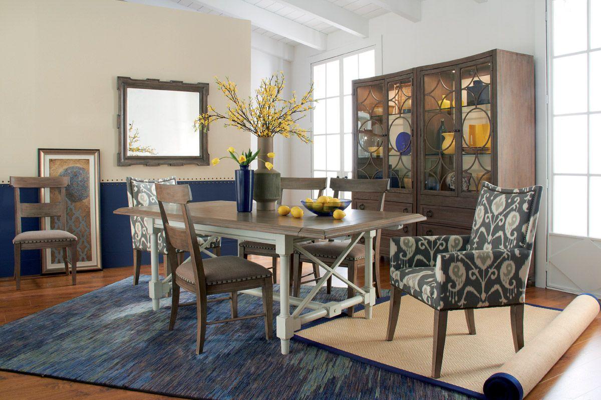 HGTV Home 4386 K4482 Caravan Rectangular Dining Table