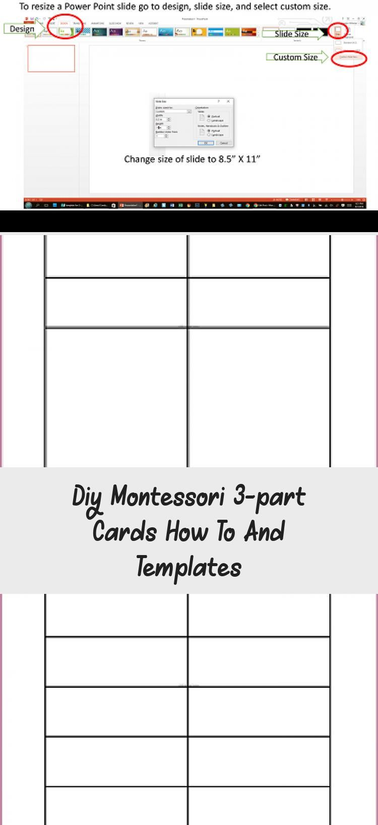 Diy Montessori 3 Part Cards How To And Templates Informational Blog Post And Video With Information About How To Make 3 Part Cards As Well As Free Templates