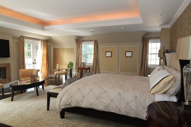 Tray Ceiling Paint Ideas With Accent Lighting