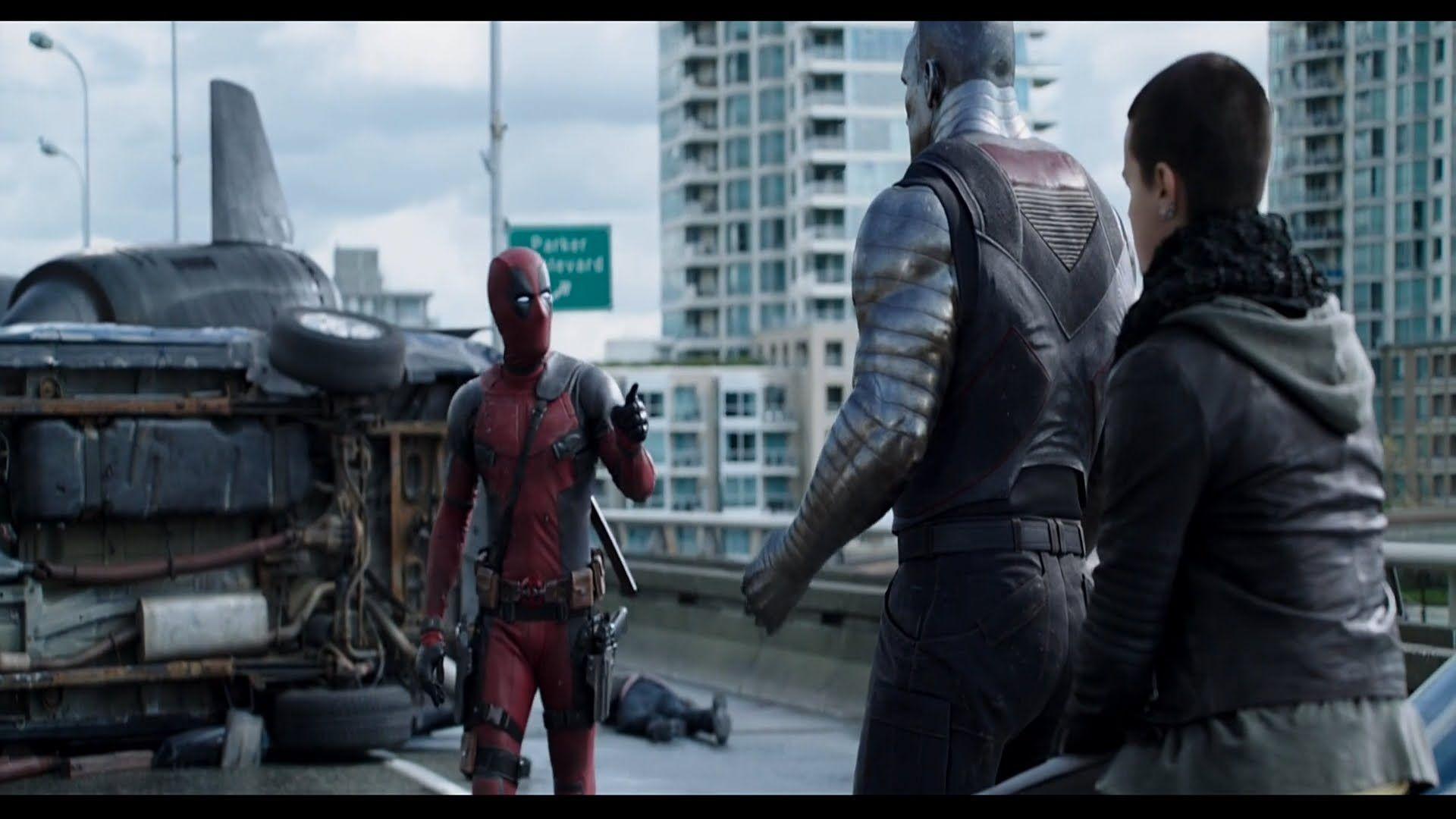 Deadpool 2016 deadpool meets colossus ntw scene