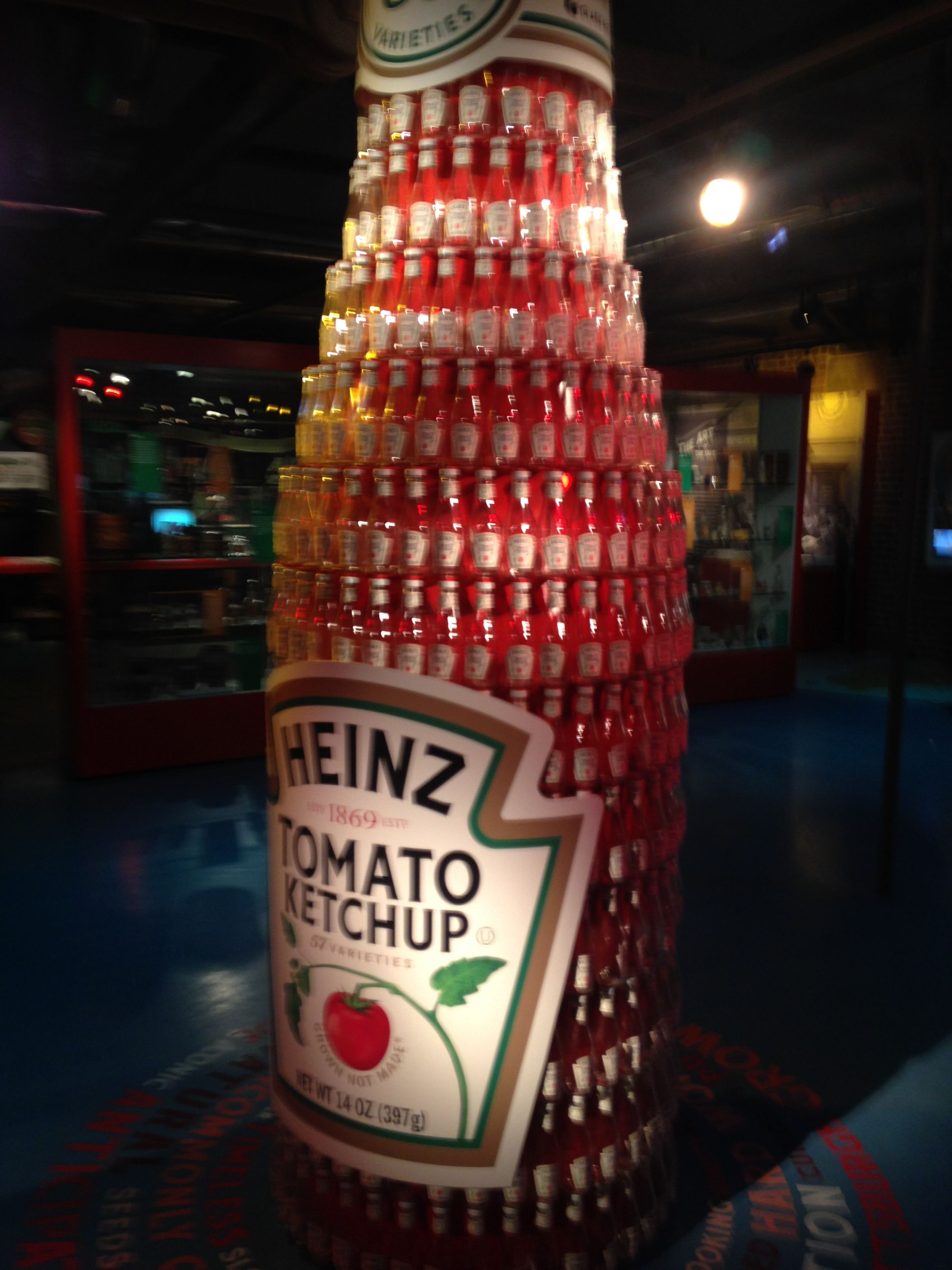 1fe03e566 Giant Heinz Ketchup bottle made from Heinz Ketchup bottles - Heinz History  Center - Pittsburgh, PA. - July 2018