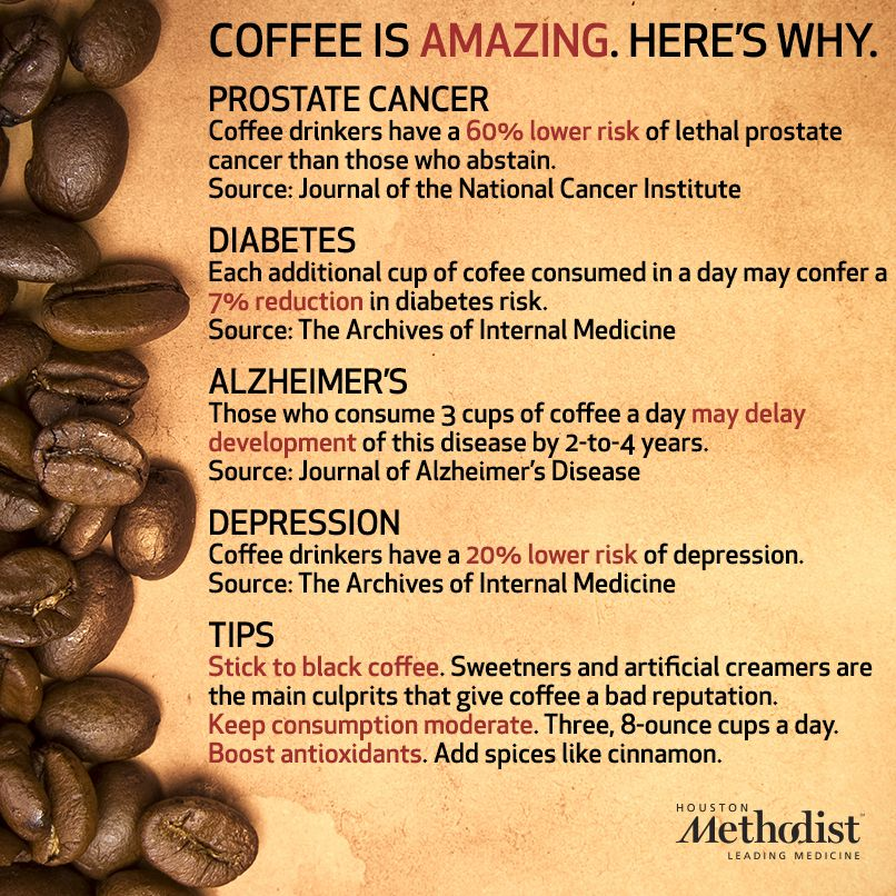 While too much caffeine can be determinantal, moderate amounts in beverages like coffee can have health benefits.