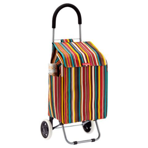 Striped Shopping Cart The Container Store Container Store Trolley Bags Shopping Cart