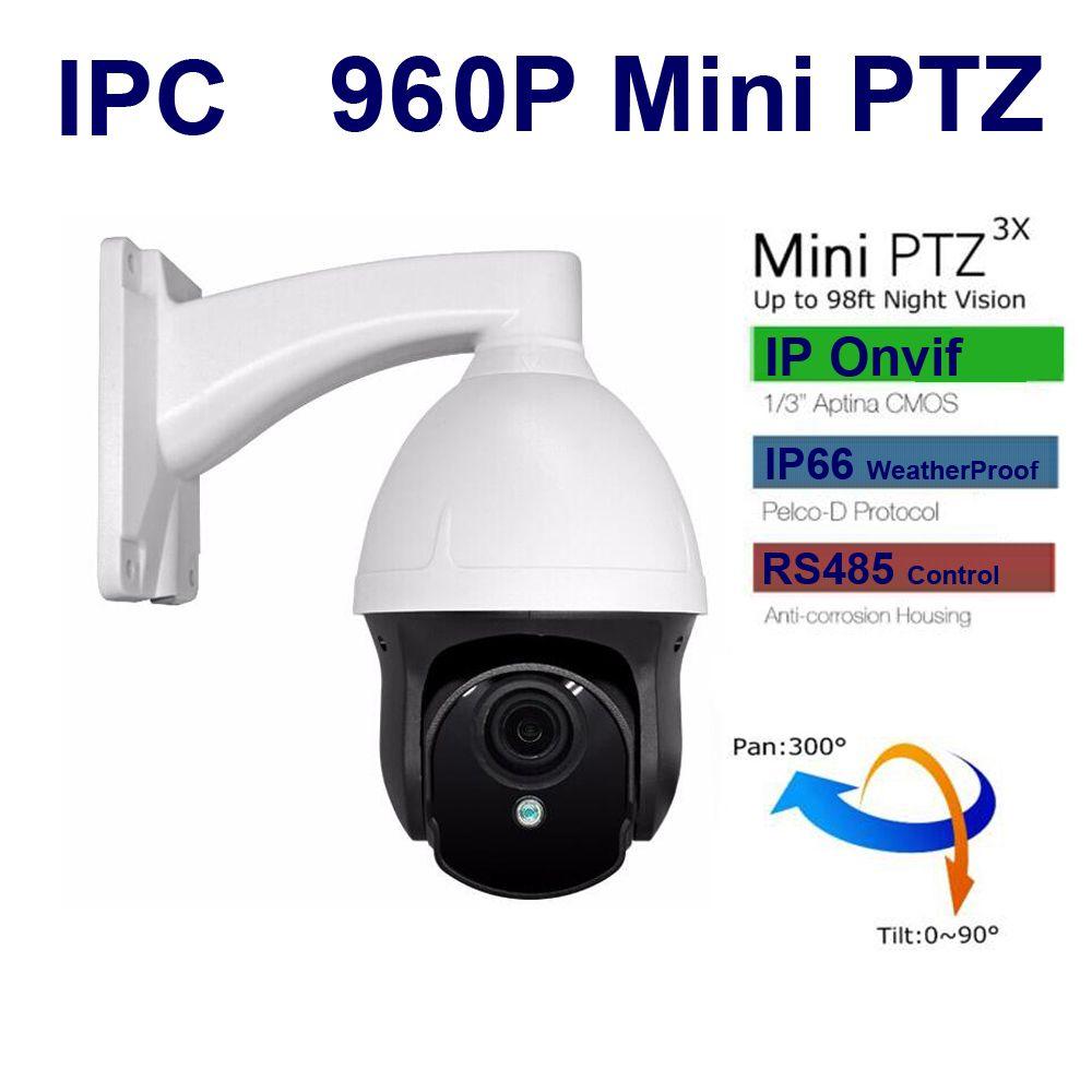 CCTV IP Camera mini PTZ 960P 1 3mp IR Network Camera Pan