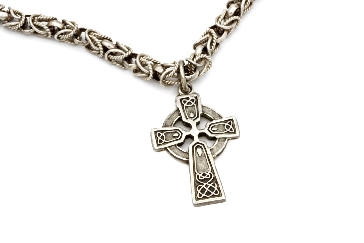 Celtic sun cross necklace celtic irish cross vintage necklaces celtic sun cross necklace celtic irish cross pendant solar wheel cross pendant byzantine aloadofball Image collections