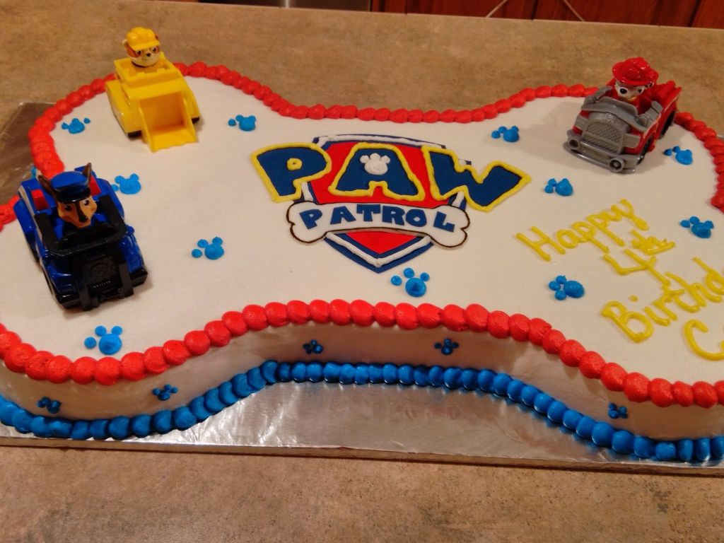 Paw Patrol Cake I Made For My Son S 4th Bday Paw Patrol Birthday