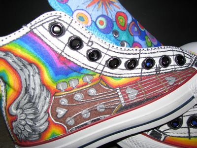 new concept a6427 d08fa I could totally do these as Rock n Roll shoes, and put a keyboard on the  other side. Keep the guitar and wings, rainbow, and the sheet music at the  laces.