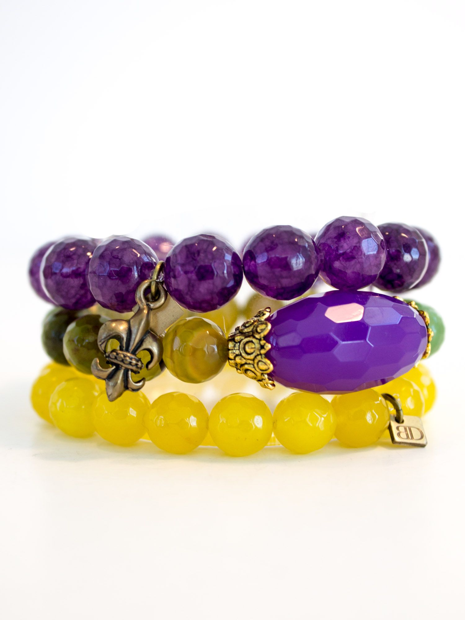 green, gold and purple - the best mardi gras party combo and bead you won't throw away!