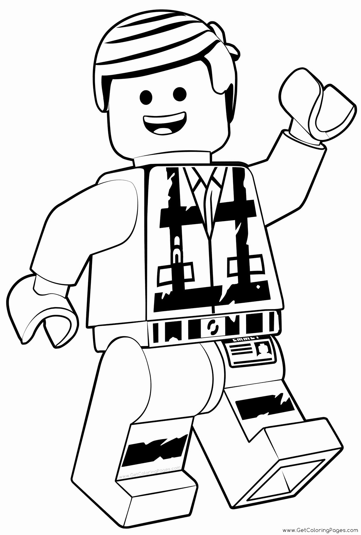 Lego Coloring Activities Fresh Emmet Lego Coloring Pages