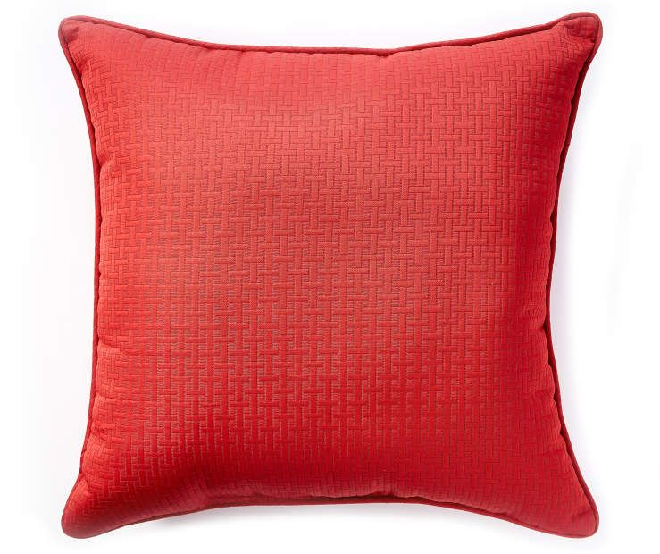 Red Rattan Outdoor Throw Pillow 24 X At Lots