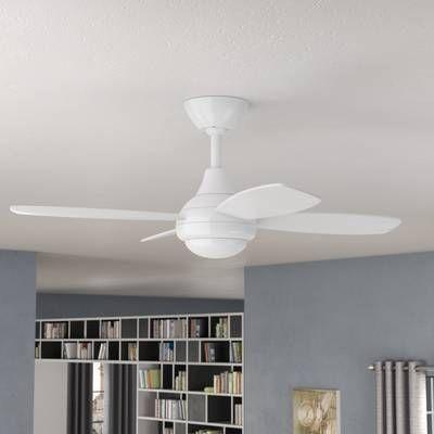 Ventilateur De Plafond 4 Pales Avec Telecommande Lilla Ventilateur Plafond Plafond Plafond Incline