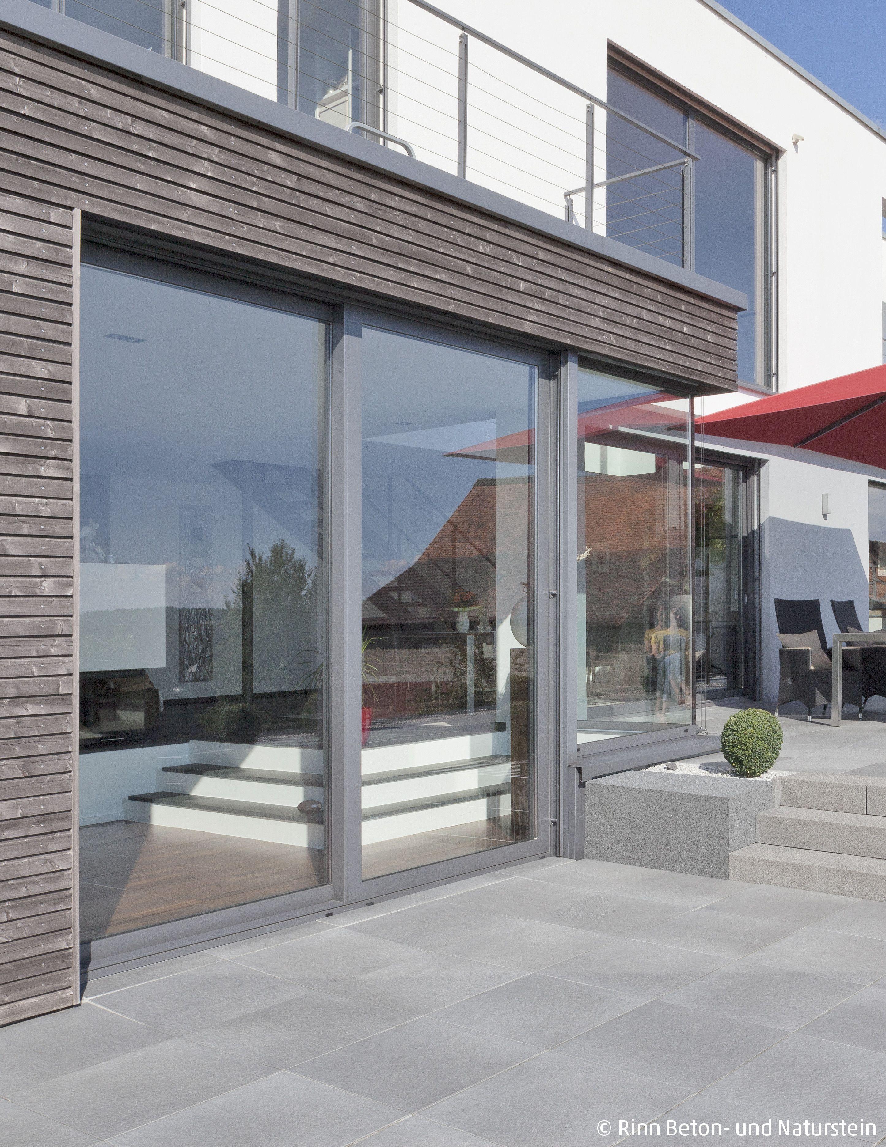 Entzückend Holzanbau Ideen Von Vom Am Modernen Neubau Führt Eine Fensterfront