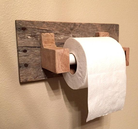 Rustic Wood Pallet Furniture Toilet Paper Holder Reclaimed