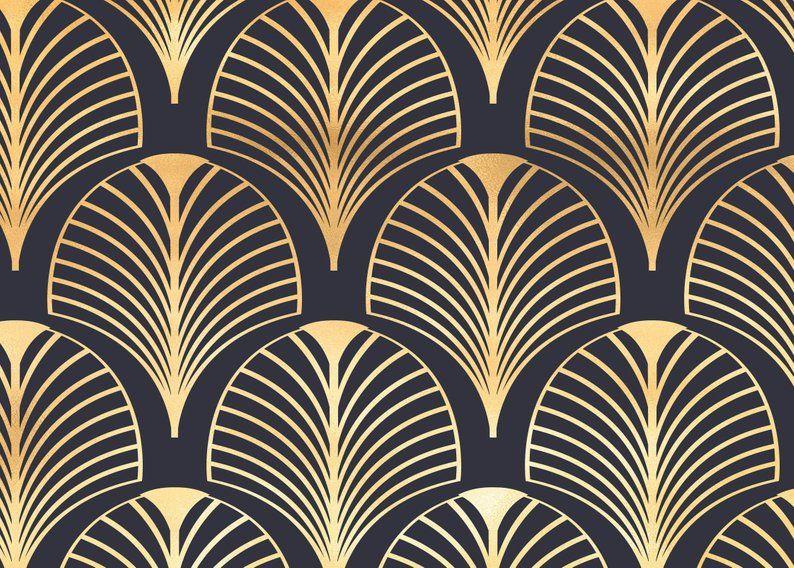 Art Deco Papier Peint Vintage