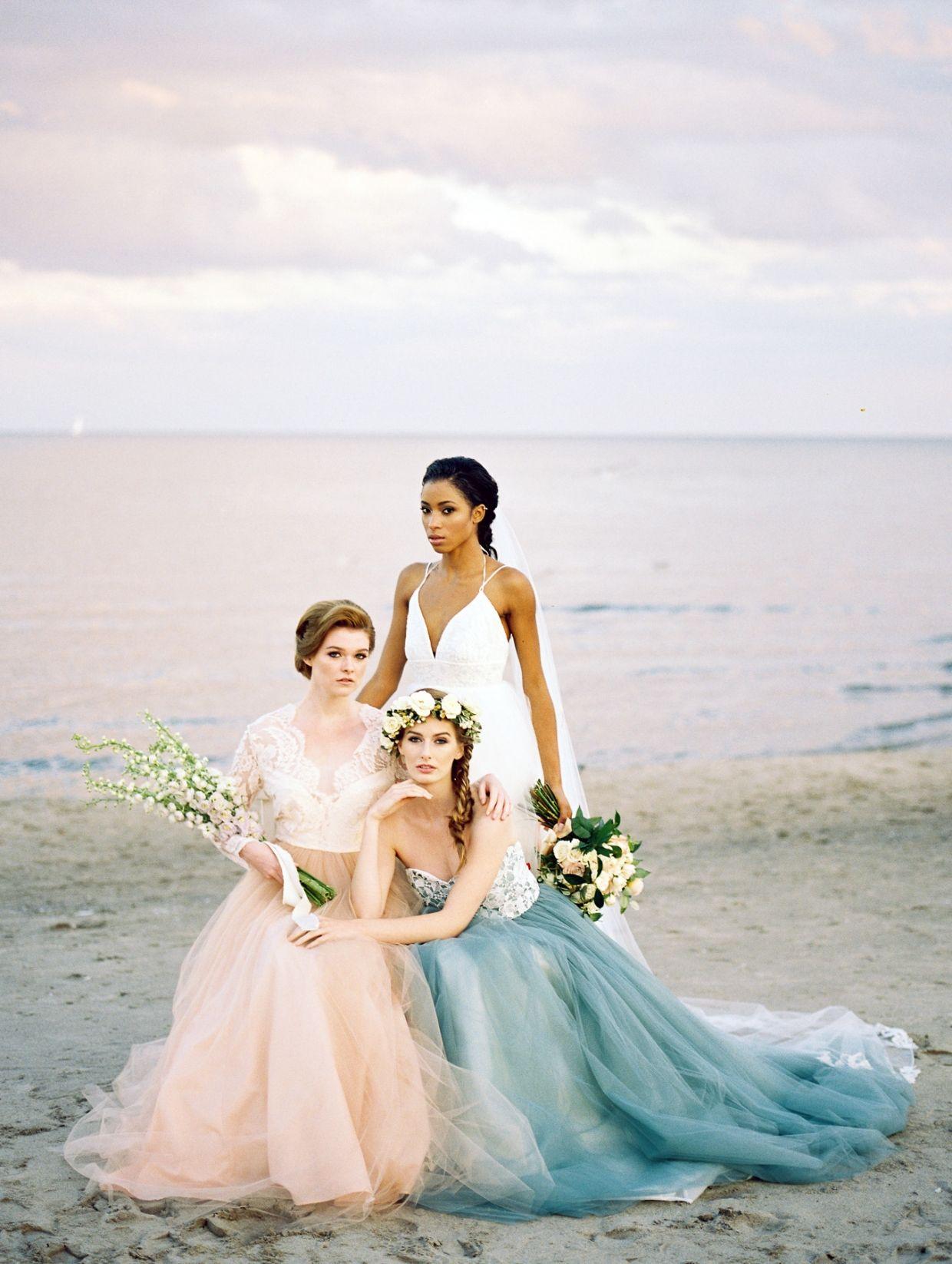 Beach wedding looks  Elizabeth dye beach inspiration beach wedding toronto pastel