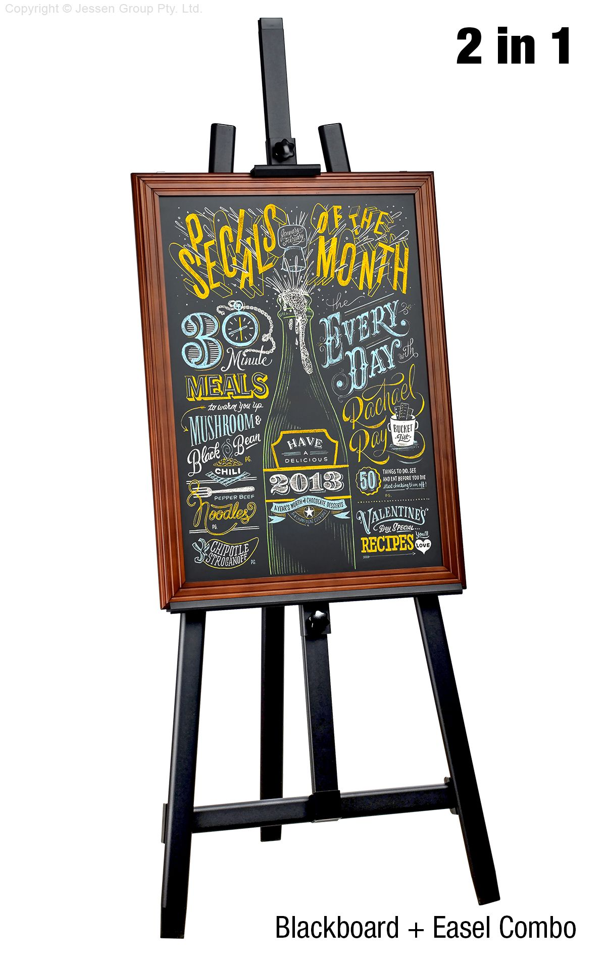 chalkboard and stand restaurant