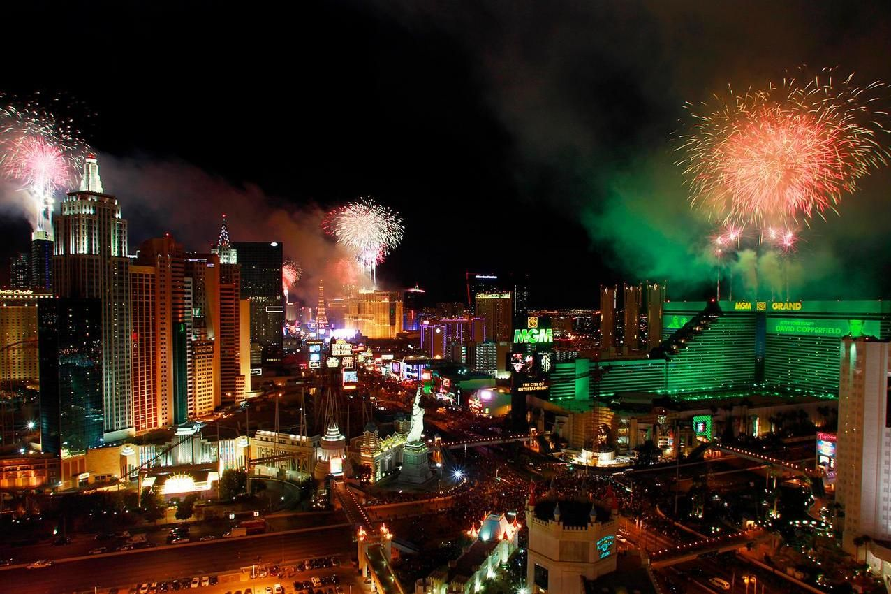 We rang in 2013 with amazing fireworks courtesy of MGM