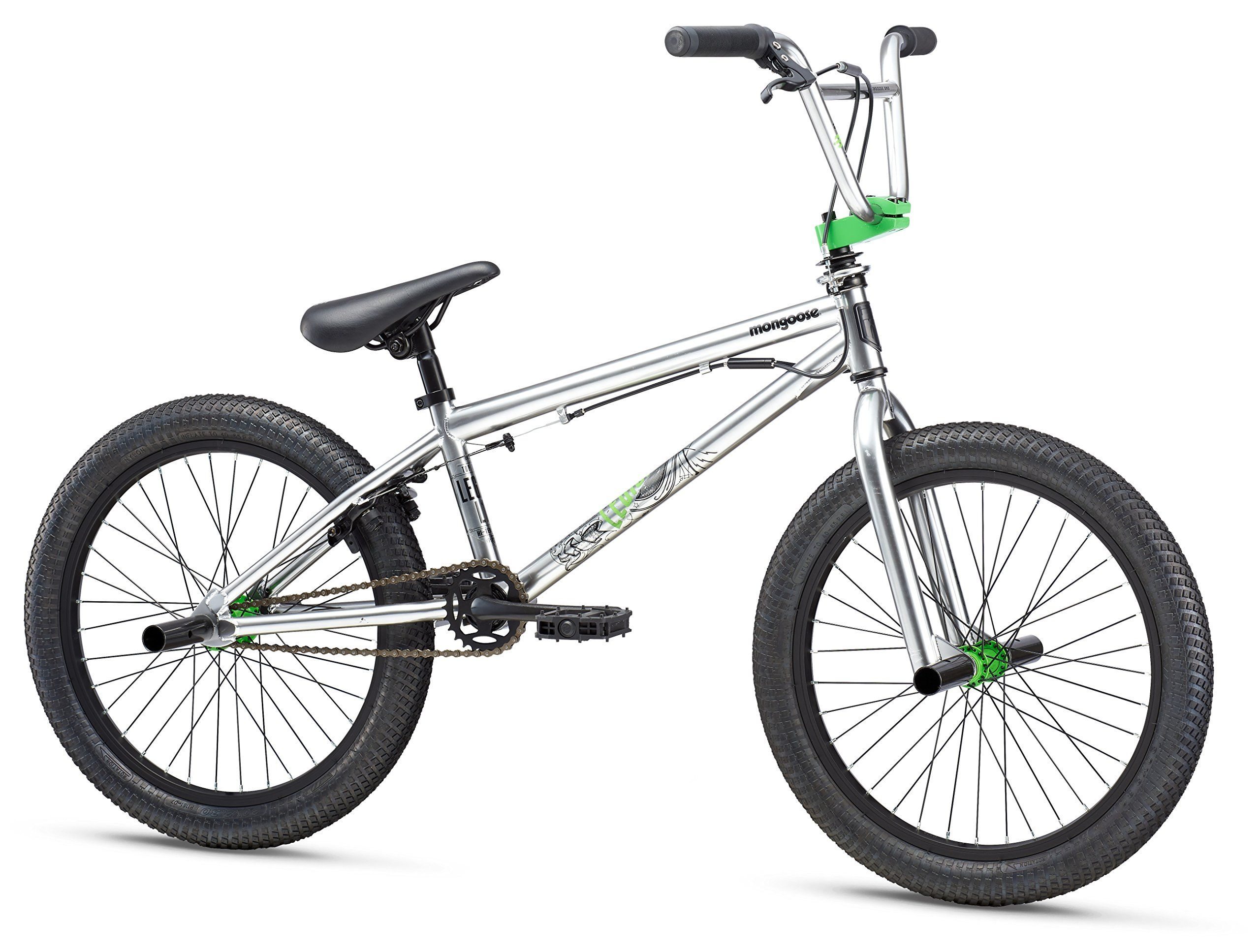 Mongoose Legion L10 20 Wheel Freestyle Bike Silver One Size