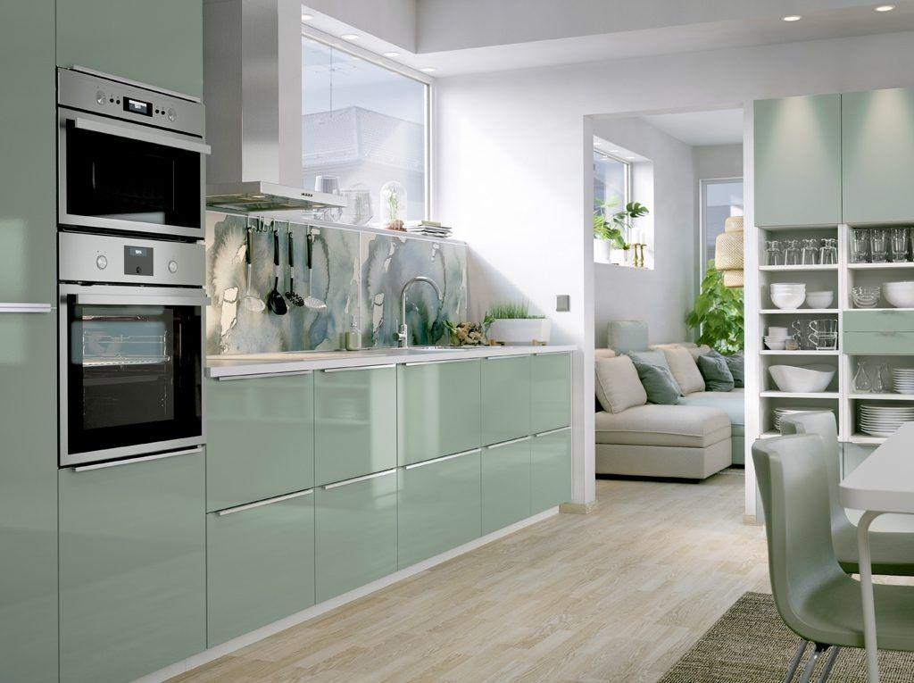 Image result for ikea kitchen green nel 2020 | Idee per la ...