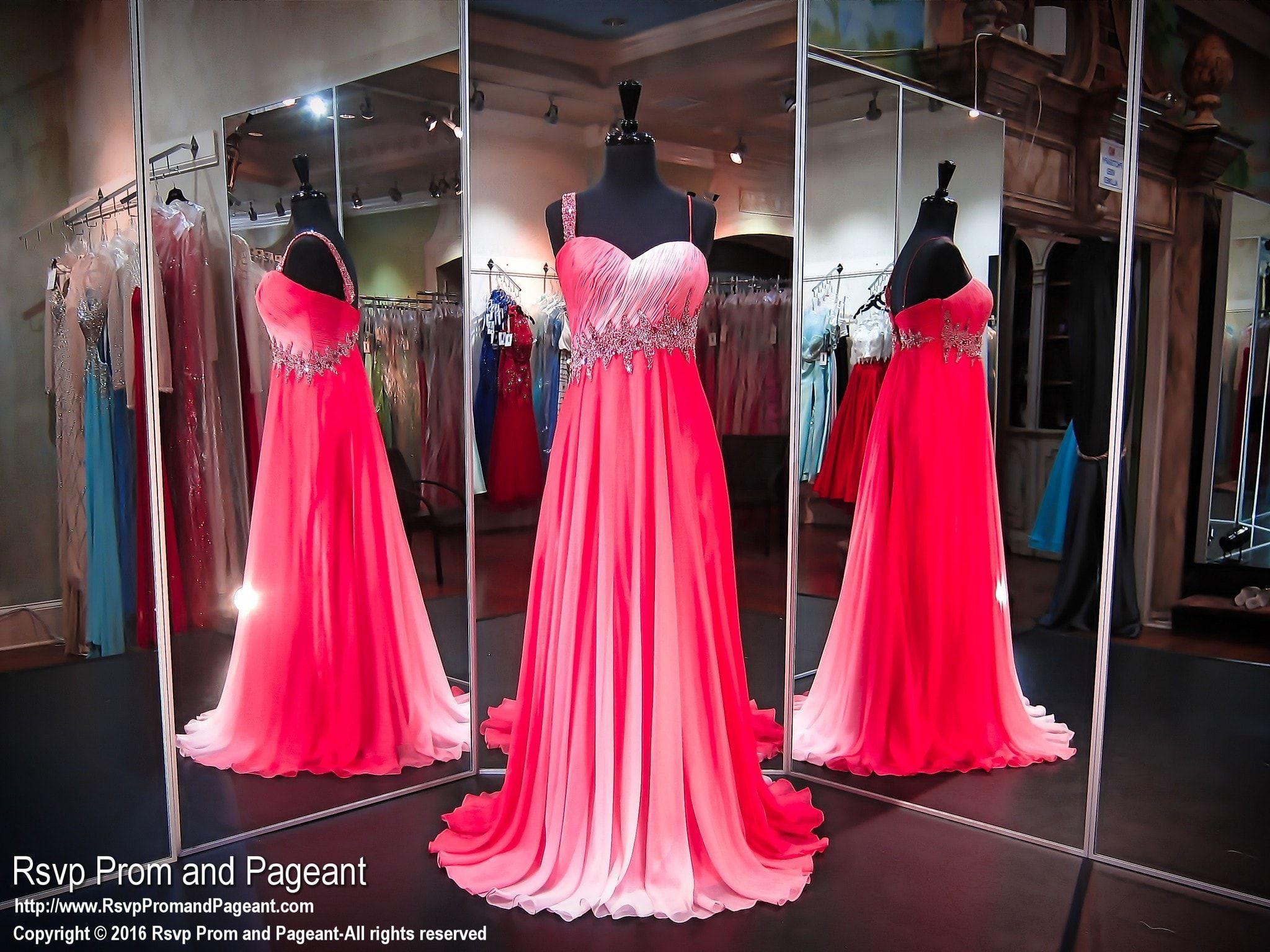 Pink one shoulder ombre prom dress prom dresses pinterest