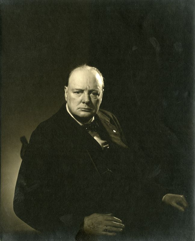 Winston Churchill, 1932 © 1932 Star Power Edward Steichen in the Condé Nast Studio   FEP