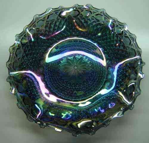 Imperial Carnival Glass Crimped Hostess Plate