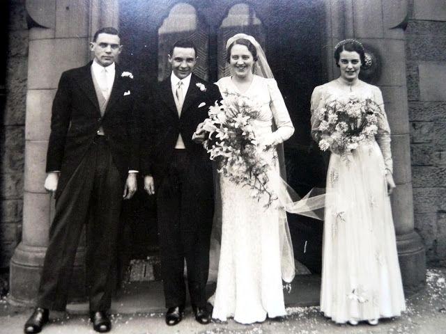 March 17 1938 Glasgow Scotland Wedding Vintage Wedding Photos Wedding Bride Historical Wedding Dresses