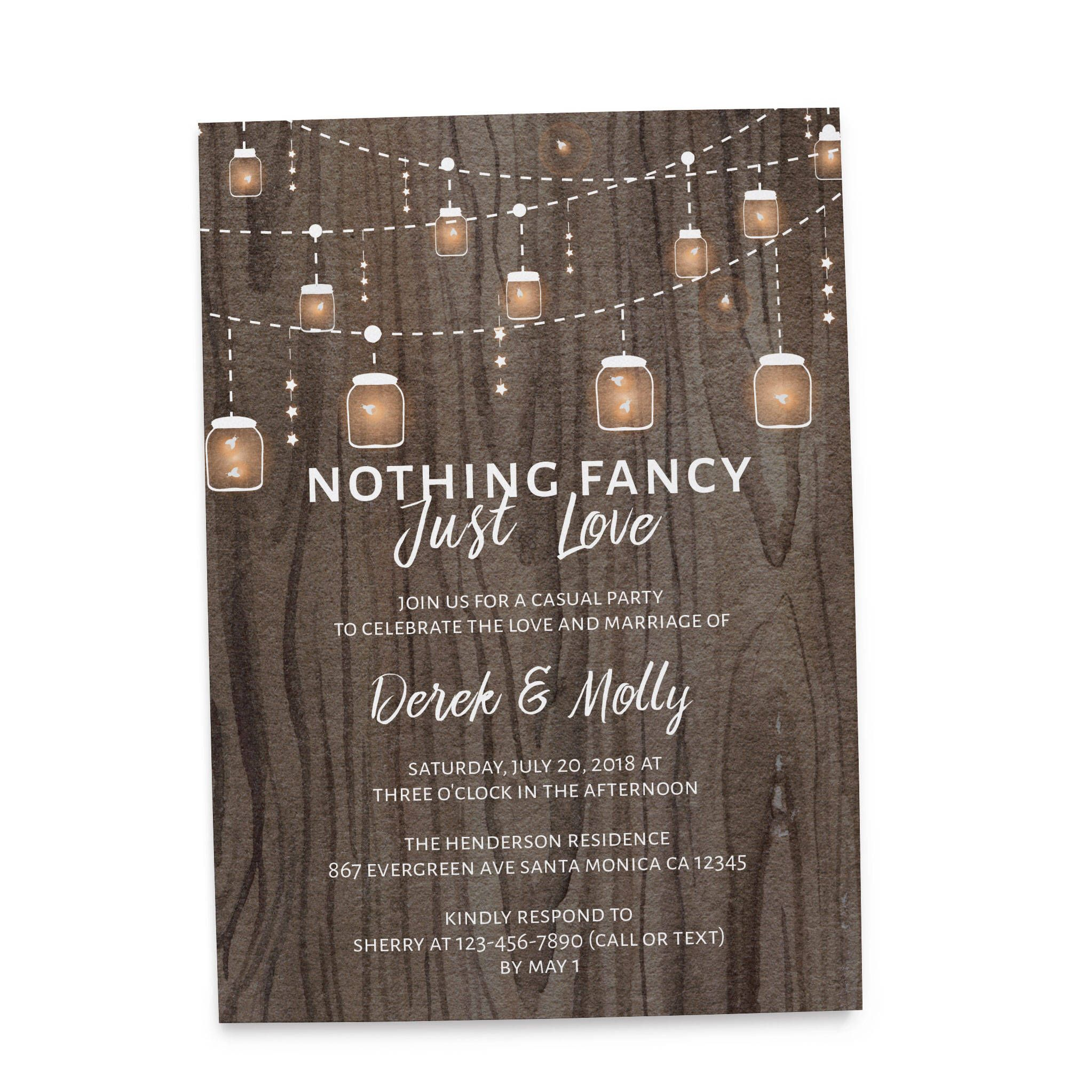 Rustic Wedding Reception Invitation That You Will Love Nothing Fancy Just