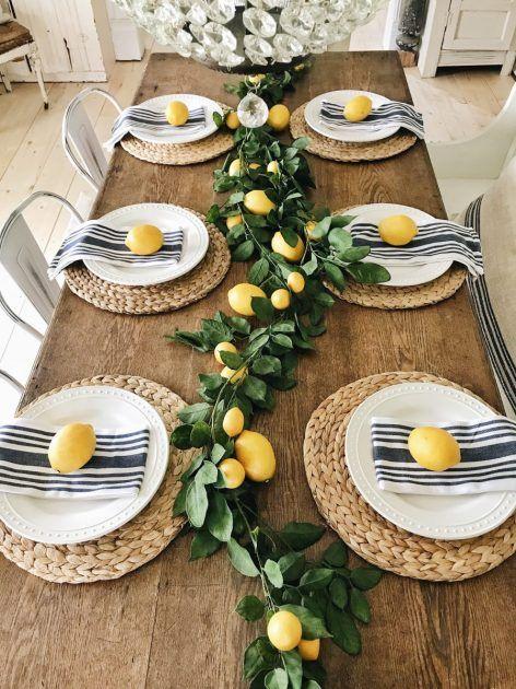 Summer Lemon Mantel Four Ways Spring Summer Dining